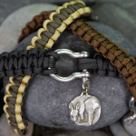 Narrow Anchor Bracelets in Black and Brown