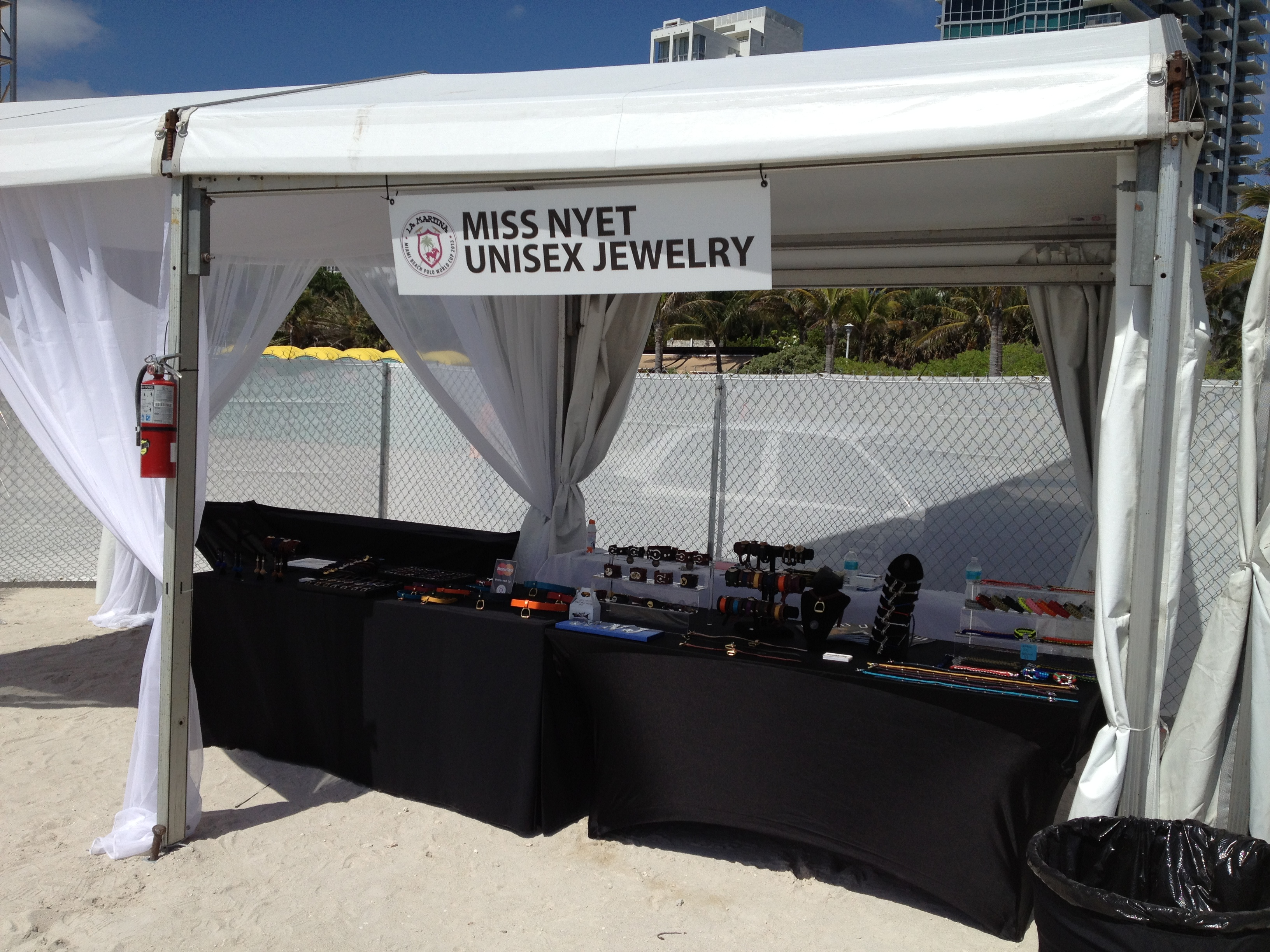 Miss Nyet Jewelry booth