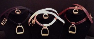 WRAPAROUND LEATHER AND BRASS BRACELET- THE STIRRUP COLORS