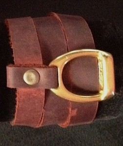 WRAPAROUND LEATHER AND BRASS BRACELET- THE STIRRUP