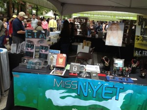 Miss Nyet booth at Printers Row