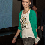 Model wearing Miss Nyet Jewelry and Green Goddess clothing (GR)