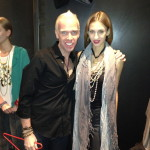 Model wearing the Stirrup Choker from the Equestrian collection with Ryan O'neill (DP)